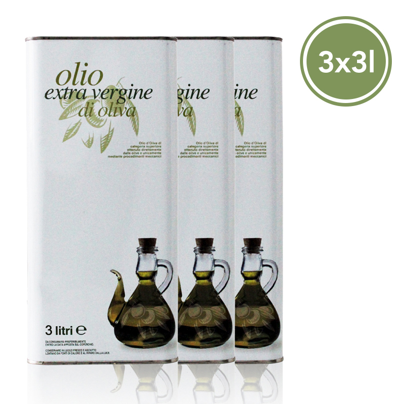 ORGANIC EXTRA VIRGIN OLIVE OIL 3 Oil cans - 3 L